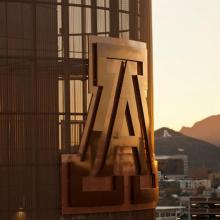 UArizona logo on a building